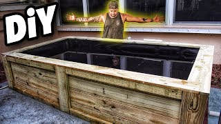 My NEW EPIC BACKYARD WOOD FISH POND!