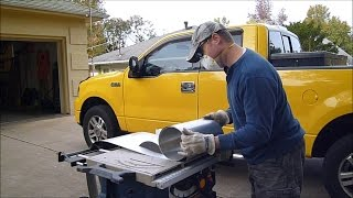 Cutting Aluminum Flashing with a Table Saw