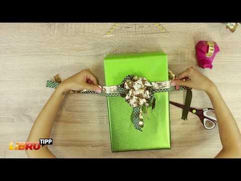 LIBRO Tipp: Weihnachtliche Verpackung mit toller Schleife selber basteln - DIY Tutorial/Anleitung