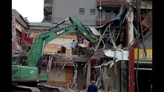Nema demolishes Java House outlet in Kileleshwa - VIDEO