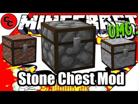 "Minecraft Mods: "" Stone Chest Mod 1.12.2 """