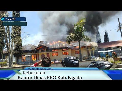 Kantor Dinas PPO Kabupaten Ngada Terbakar