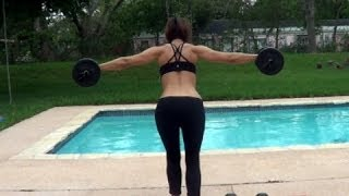 Shoulder workout and Lower Back workout | Women Workout Beginner Tips by Juan Claudia