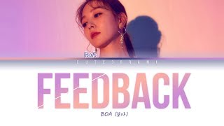 BoA (보아)   Feedback (feat. Nucksal) (Color Coded Lyrics EngRomHan가사)