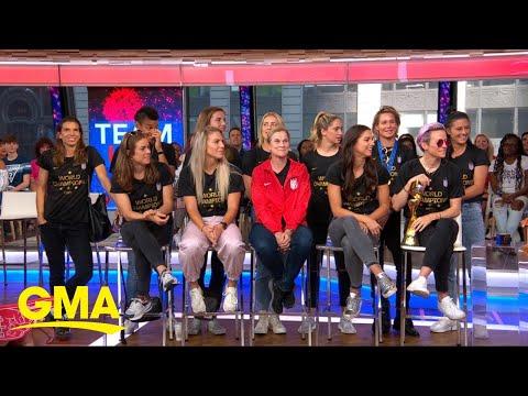Megan Rapinoe and Alex Morgan talk World Cup victory l GMA