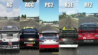 Assetto Corsa Competizione vs Assetto Corsa vs Project CARS 2 vs RaceRoom vs rFactor 2