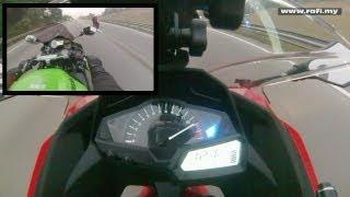 Смотреть онлайн Кавасаки ниндзя 250 на максимальной скорости