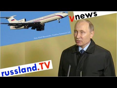 Russland: Reaktionen zum Flugzeugabsturz [Video]