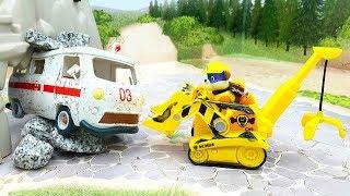 Мультики про машинки для малышей - Чудовище! Развивающие мультфильмы с игрушками.