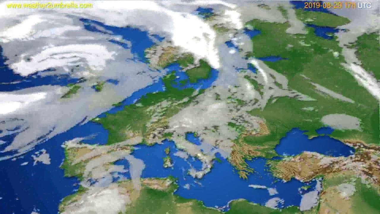 Cloud forecast Europe // modelrun: 00h UTC 2019-08-28