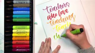 Make Your Own Handlettered Teacher Appreciation Day Sign