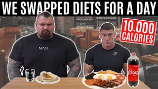 I swapped diets with the WORLD'S STRONGEST MAN | ft. Eddie Hall *10,000 CALORIES*