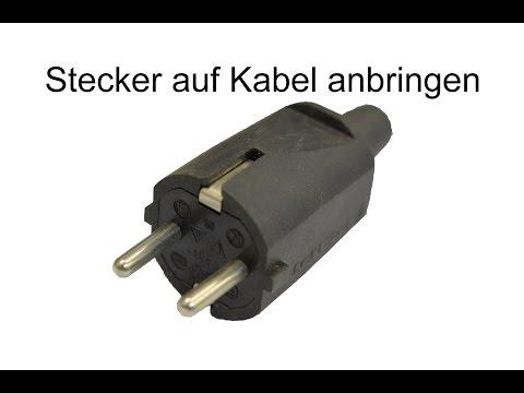 Schuko-Stecker (Schutzkontaktstecker) anbringen