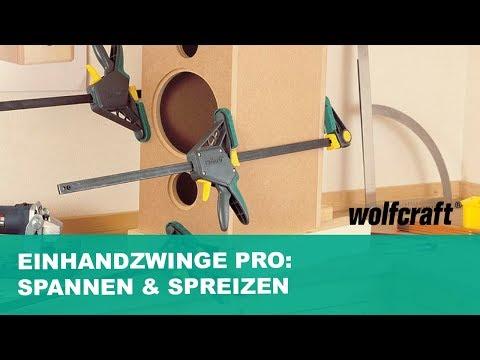Einhandzwinge PRO: Spannen & Spreizen mit eine Hand | wolfcraft
