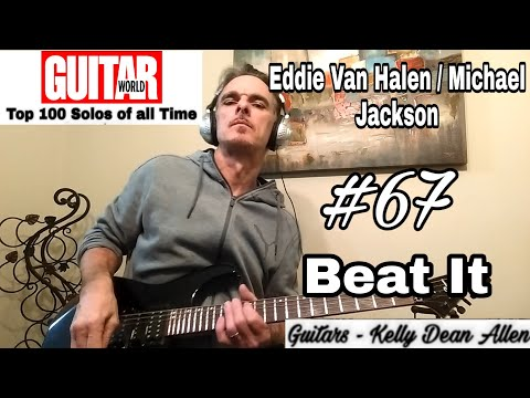 "54 year old attempting to play Guitar World's top 100 guitar solos. He is at #67 right now, Eddie Van Halens solo in ""Beat it"" by Michael Jackson."