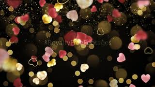 gold heart particles | heart background status | heart background animation | love background video