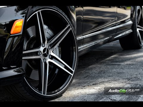 "Mercedes Benz S 63 AMG 2011 On 22"" Savini Wheels"
