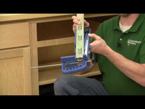 Rockler Jig Makes Drawer Slide Installation Easier
