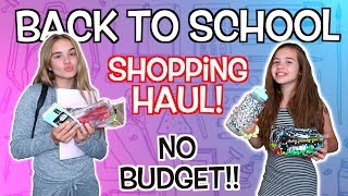 BACK TO SCHOOL SHOPPING HAUL! *NO BUDGET*