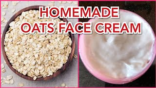 How To Make HOMEMADE FACE CREAM Using Oats