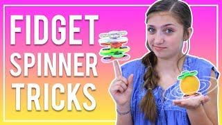 EASY FIDGET SPINNER TRICKS FOR BEGINNERS | Kamri Noel