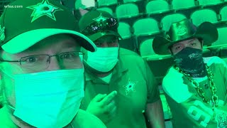 Fans celebrate as Dallas Stars win in overtime to advance to Stanley Cup Final