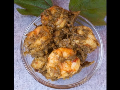 Prawns - Shrimp cooked in sour greens gongura