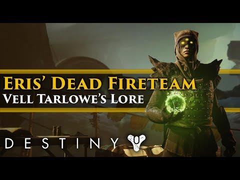 Destiny 2 Shadowkeep Lore - Eris' dead fireteam! Vell Tarlowe Lore!