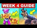 Fortnite WEEK 4 GUIDE–Search Buried Treasure,Launch Yourself Through Structures With A Pirate Cannon