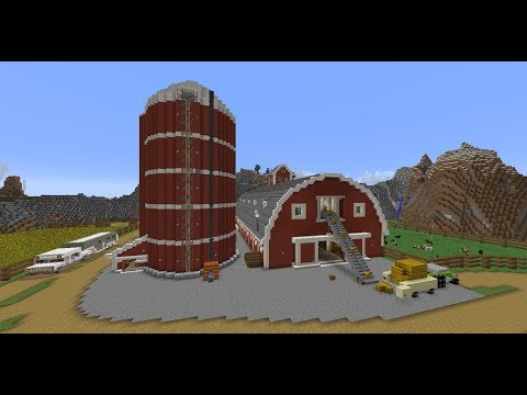Red Horse Barn Minecraft Project