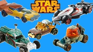 NEW STAR WARS THE FORCE HOT WHEELS CARS KANAN INQUISITOR WICKET CHOPPER BOBA FETT