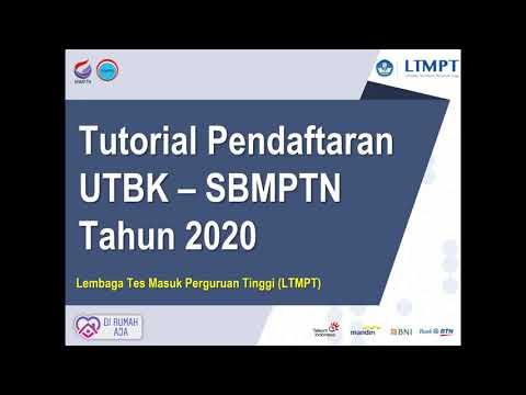 TUTORIAL PENDAFTARAN UTBK DAN SBMPTN 2020