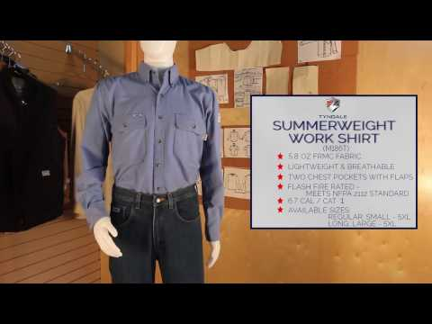 Summerweight Work Shirt Product Video M186T