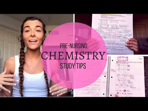 CHEMISTRY STUDY TIPS | Pre-Nursing - YouTube