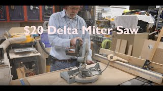 $20 Delta 36-040 Miter Saw Thrift Store Find!