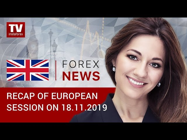 18.11.2019:  EUR, GBP gain ground on weak US dollar (EUR/USD, GBP/USD, GOLD)