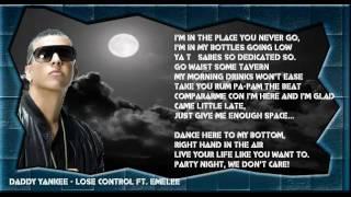 Lose Control - Daddy Yankee Ft. Emelee (Original) (Con Letra) ★REGGAETON 2012★