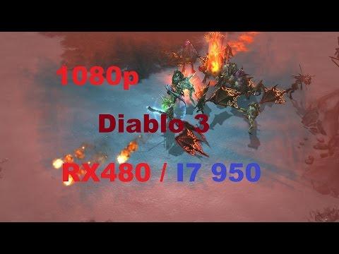 Diablo 3 : i7 950 / RX 480 / Socket 1366 / Frame rate test