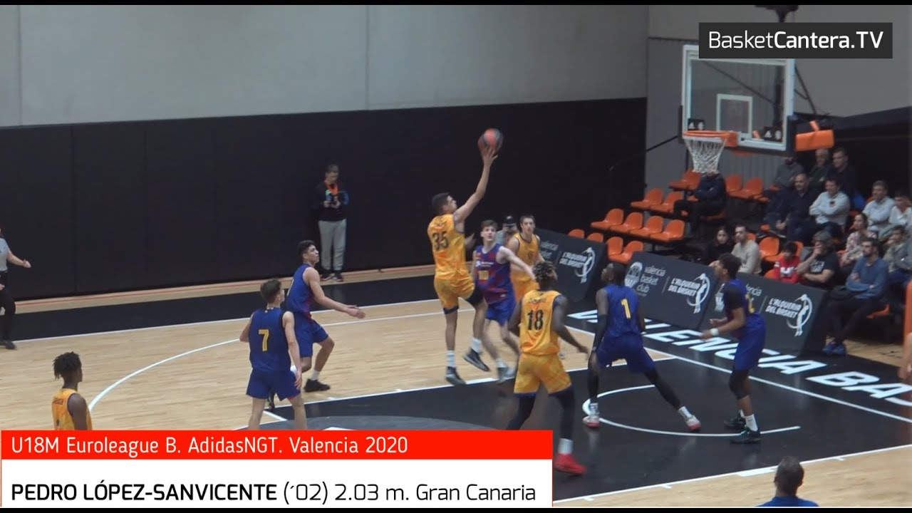 PEDRO LÓPEZ-SANVICENTE (´02)  2.03 m. Gran Canaria. Euroleague ANGT Valencia 2020 (BasketCantera.TV)