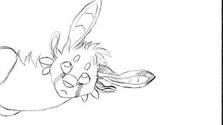 "Short Animation WIP    ""Yuko"" The Alledian Cat Lizard Thing"