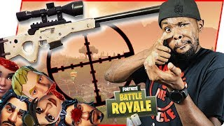 SNIPING HEADS OFF LEFT AND RIGHT! - FortNite Battle Royale Ep.92