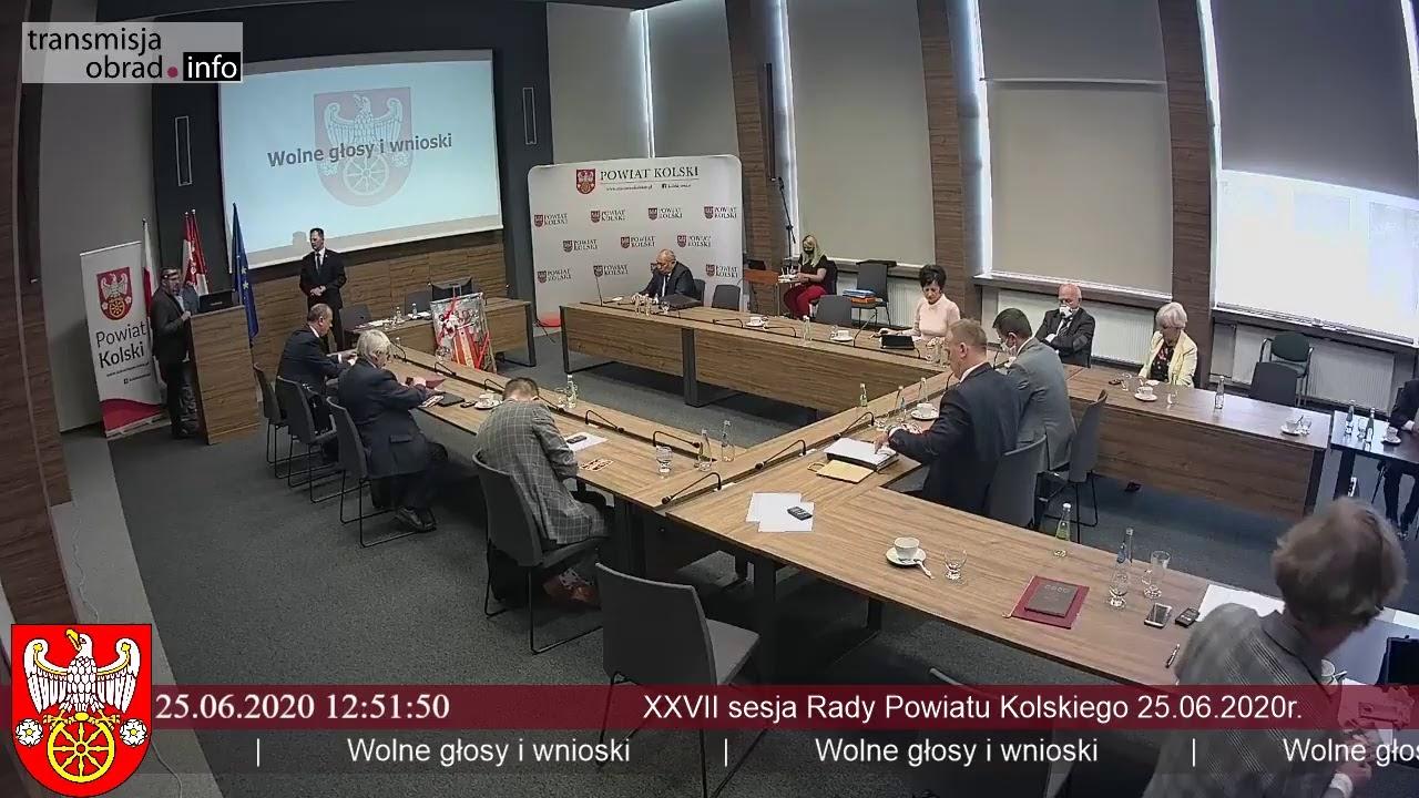 Zdjęcie do XXVII sesja Rady Powiatu Kolskiego