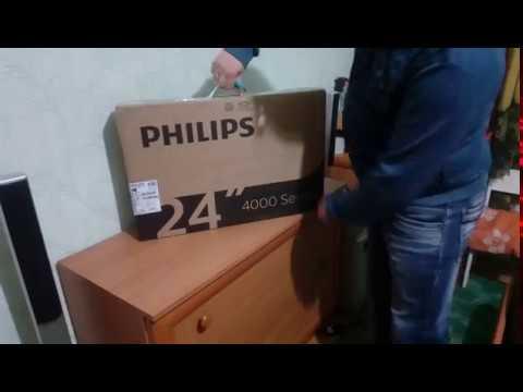 Телевизор PHILIPS 24PHS4031/12 -распаковка