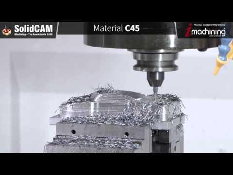 Vidéo d'usinage avec l'iMachining de SolidCAM