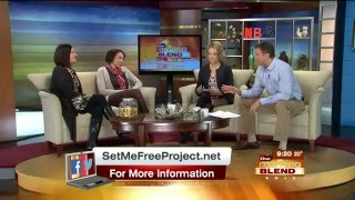 Stephanie and Cindy on The Morning Blend