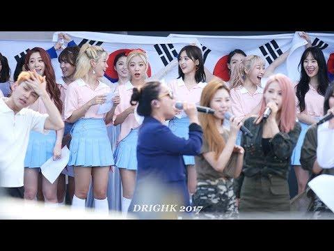 에일리 성량에 깜놀하는 우주소녀들과 마마무소녀들 [DMZ평화콘서트] 직캠fancam