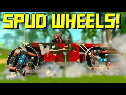Spud Gun Powered Wheels, But Also Destructible Cars - Scrap Mechanic Multiplayer Monday