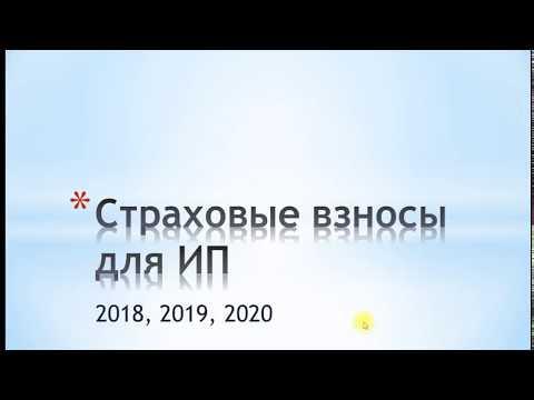 Фиксированные страховые взносы ИП в 2018,2019,2020