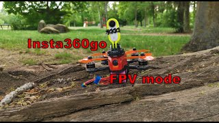 Insta360 go new FPV stabilization mode with crash - team #bckflp