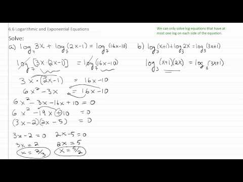 Solving Exponential & Log Equations p3